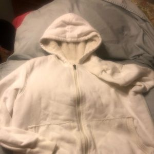 Zippered fleece lined hoodie
